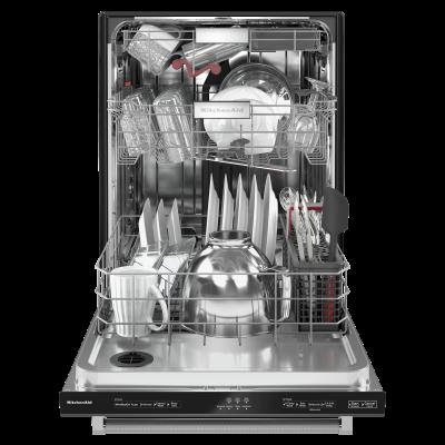 "24"" KitchenAid 44 dBA Dishwasher in PrintShield Finish With FreeFlex Third Rack - KDTM404KBS"