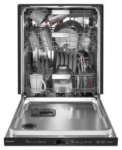 "24"" KitchenAid 44 dBA Dishwasher in PrintShield Finish with FreeFlex Third Rack - KDPM604KBS"