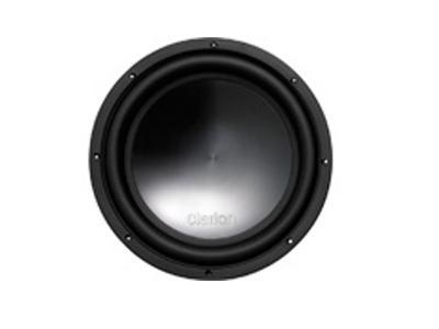 """Clarion 1500W MAX 12"""" Dual 4-ohm Voice Coil Subwoofer WQ3020D"""