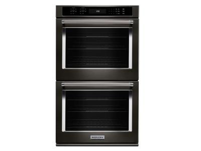 """27"""" KitchenAid Double Wall Oven With Even-Heat True Convection - KODE507EBS"""