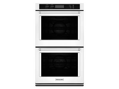 """27"""" KitchenAid Double Wall Oven With Even-Heat True Convection - KODE507EWH"""