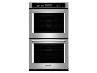 """27"""" KitchenAid Double Wall Oven With Even-Heat True Convection - KODE507ESS"""