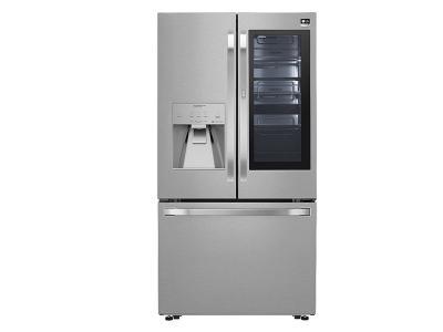 """36"""" LG STUDIO 24 cu. ft. InstaView Door-in-Door  Counter-Depth Refrigerator - SRFVC2406S"""