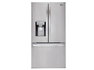 """36"""" LG 22 cu.ft. WiFi Enabled Counter Depth French Door Refrigerator - LFXC22526S"""