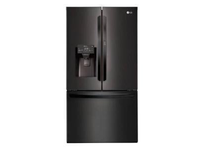 """36"""" LG 28 cu.ft  Matte Black French Door Refrigerator With Door-in-Door  - LFXS28566M"""