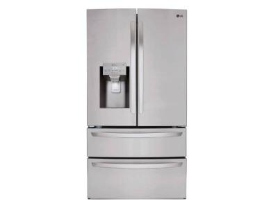 """36"""" LG 28 cu.ft. Smart Wi-Fi Enabled French Door Refrigerator - LMXS28626S"""