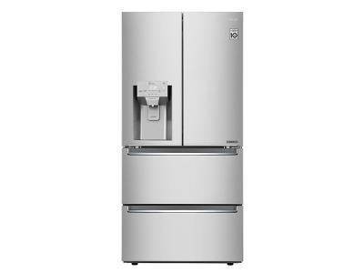 """33"""" LG Counter Depth 4-Door Refrigerator 18.3 cu.ft. - LRMXC1803S"""
