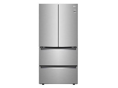 """33"""" LG  19 cu.ft. Counter Depth 4-Door Refrigerator - LRMNC1803S"""