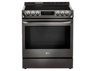 """30"""" LG 6.3 cu. ft. Electric Slide-in Range With ProBake Convection And EasyClean - LSE4611BD"""