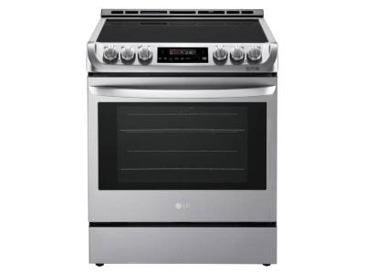 """30"""" LG 6.3 cu. ft. Electric Slide-in Range With ProBake Convection And EasyClean - LSE4611ST"""