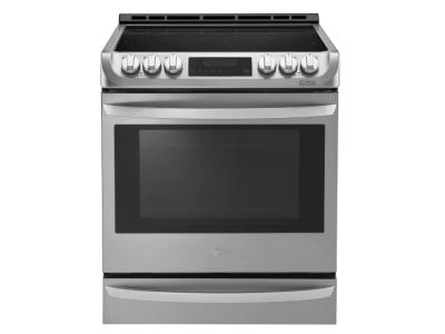 """30"""" LG 6.3 Cu. Ft. Electric Slide In Range With ProBakeConvection And EasyClean - LSE5613ST"""
