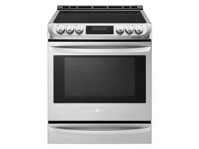 """30"""" LG 6.3 cu. ft. Induction Slide In Range With  ProBake Convection and EasyClean - LSE4617ST"""