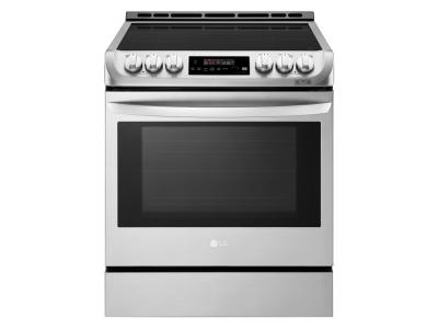 """30"""" LG 6.3 cu. ft. Induction Slide In Range With  ProBake Convection and EasyClean - LSE4616ST"""