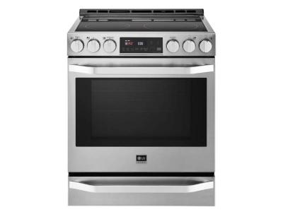 """30"""" LG STUDIO 6.3 Cu.Ft. Capacity Slide-In Electric Range With ProBake Convection - LSSE3026ST"""