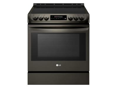 """30"""" LG 6.3 cu. ft. Induction Slide In Range With  ProBake Convection and EasyClean - LSE4616BD"""