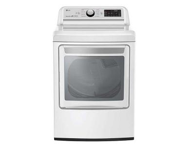 """27"""" LG 7.3 cu.ft Electric Dryer with TurboSteam - DLEX7250W"""